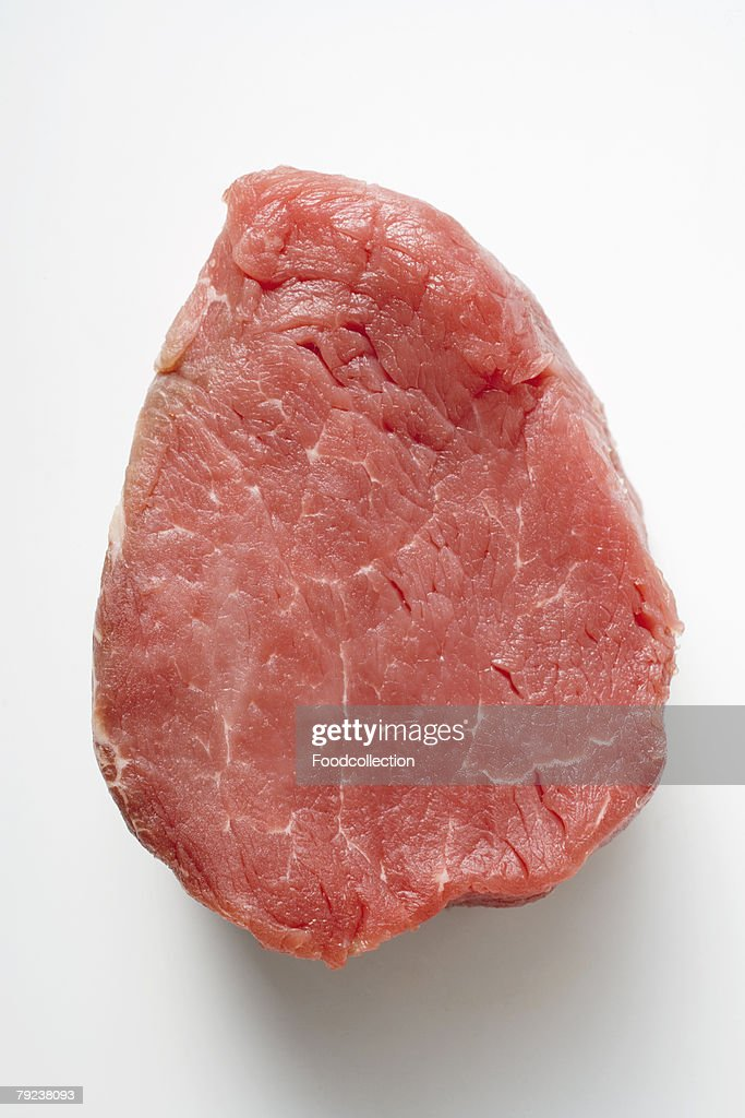 A slice of beef fillet : Stock Photo
