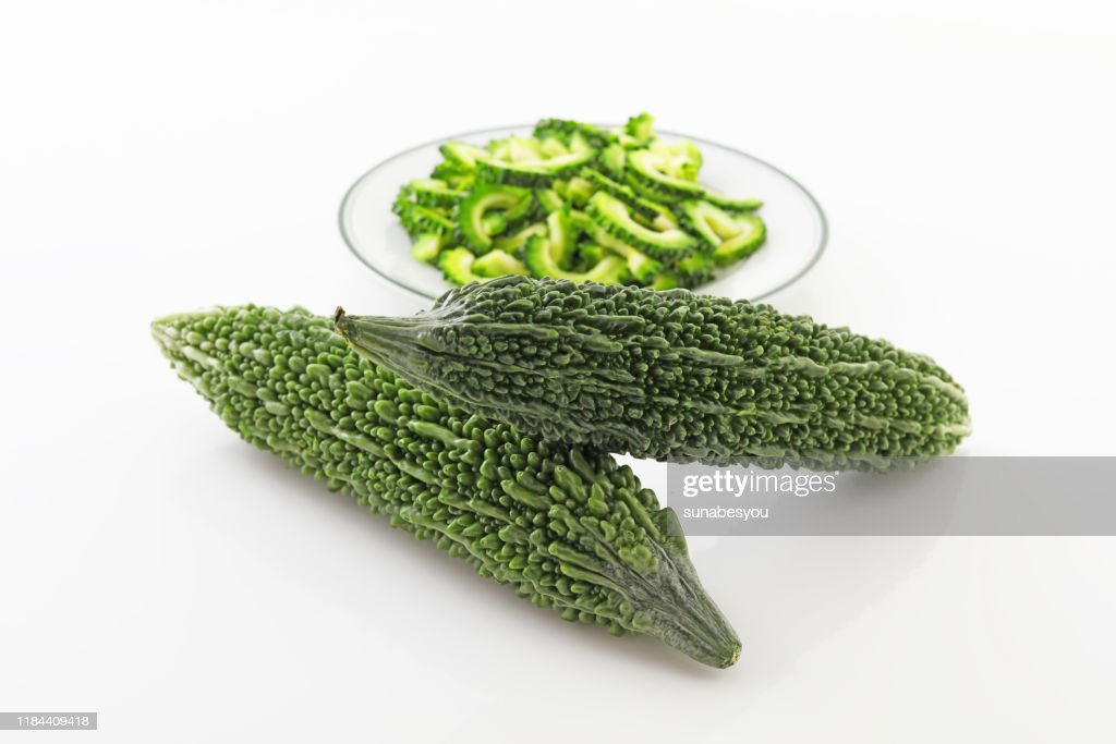 Slice of bitter gourds : Stock Photo