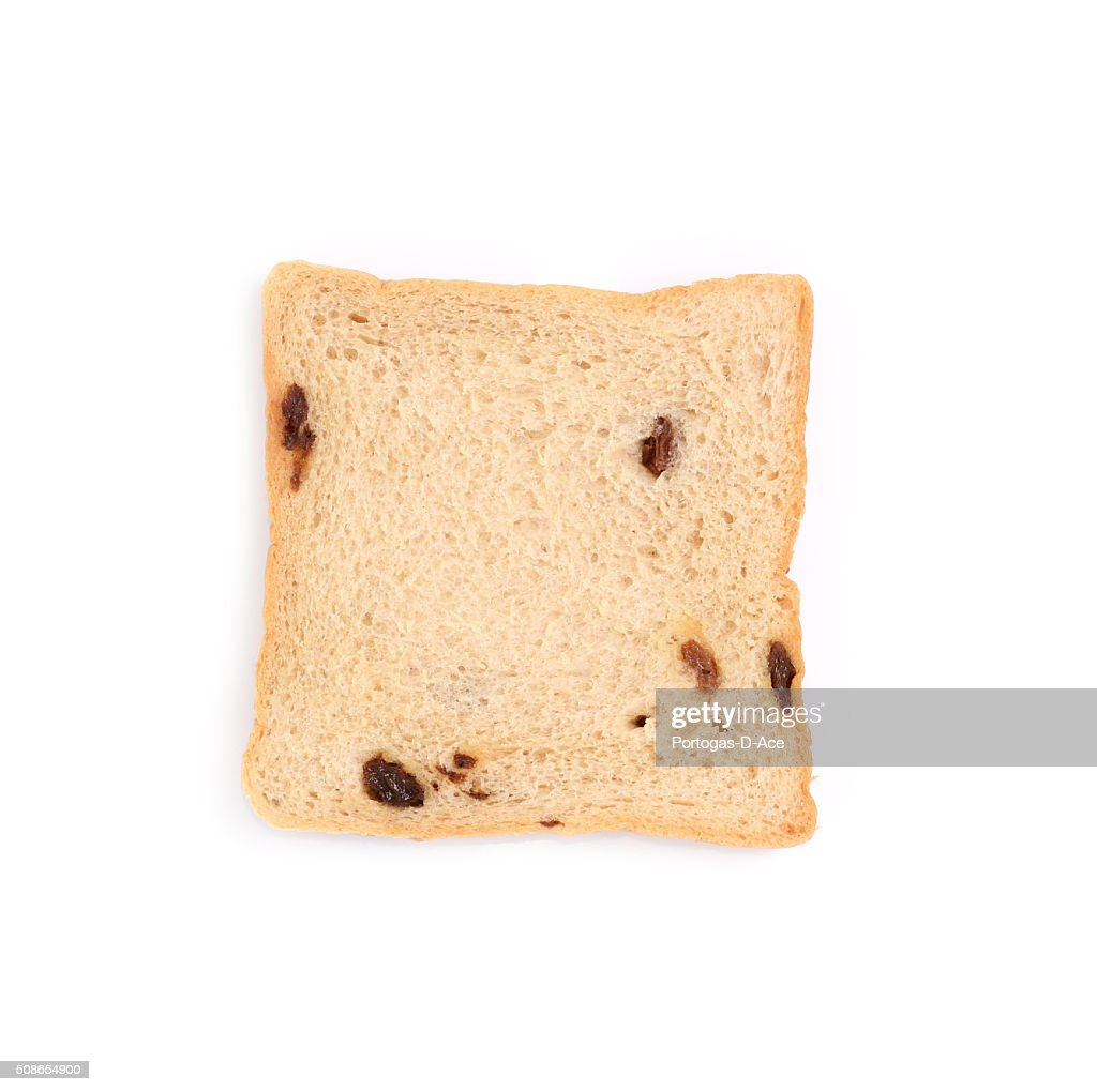 slice of bread on white background : Stock Photo