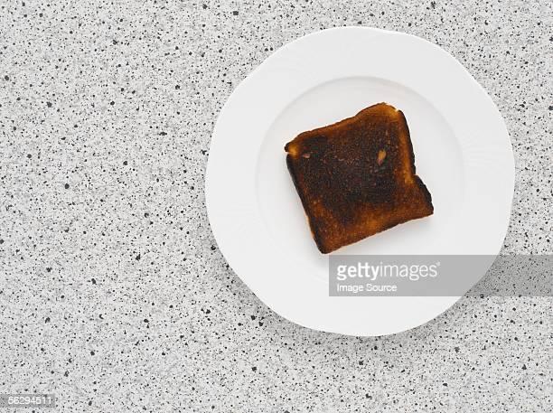 A slice of burnt toast