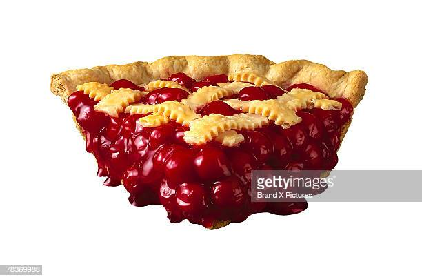 Slice of cherry pie