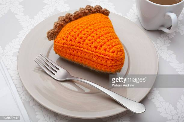 Slice of crocheted pie