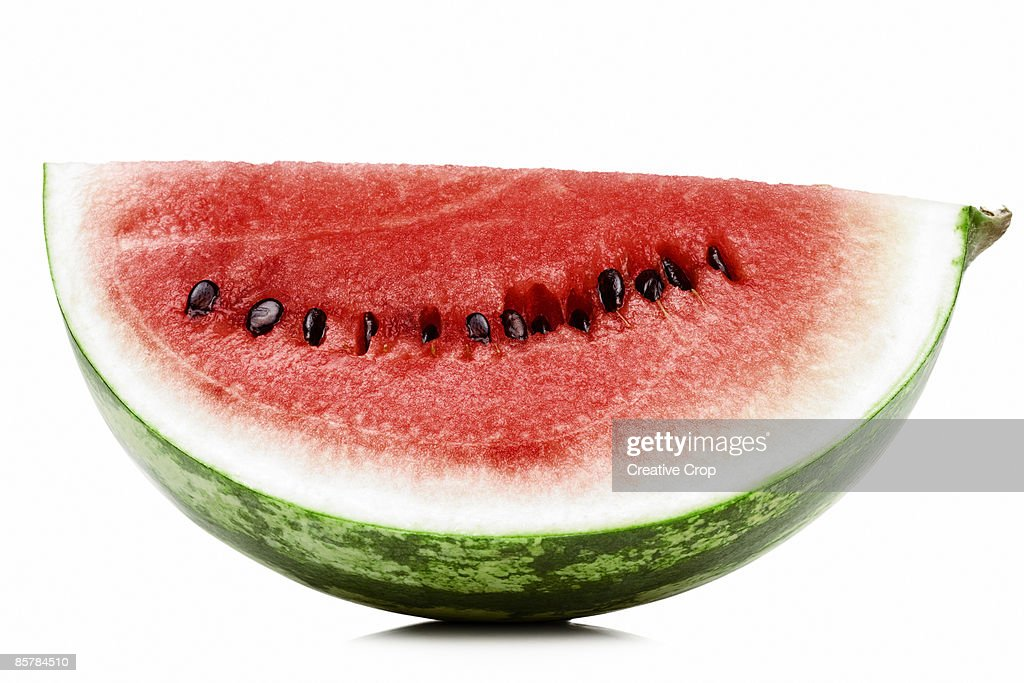 A slice of fresh red watermelon : Stock Photo