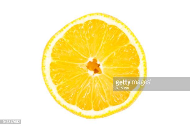slice of lemon fruit - 切る ストックフォトと画像