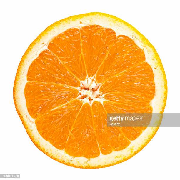 slice of orange - citrus fruit stock pictures, royalty-free photos & images