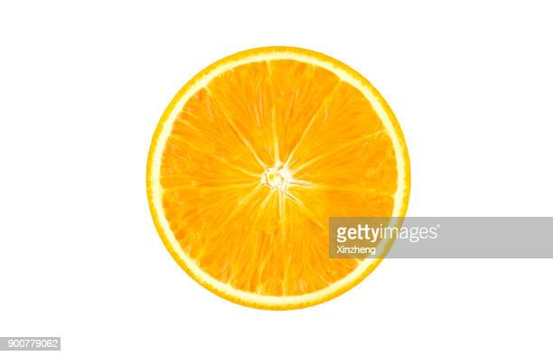 slice of orange - cross section stock pictures, royalty-free photos & images