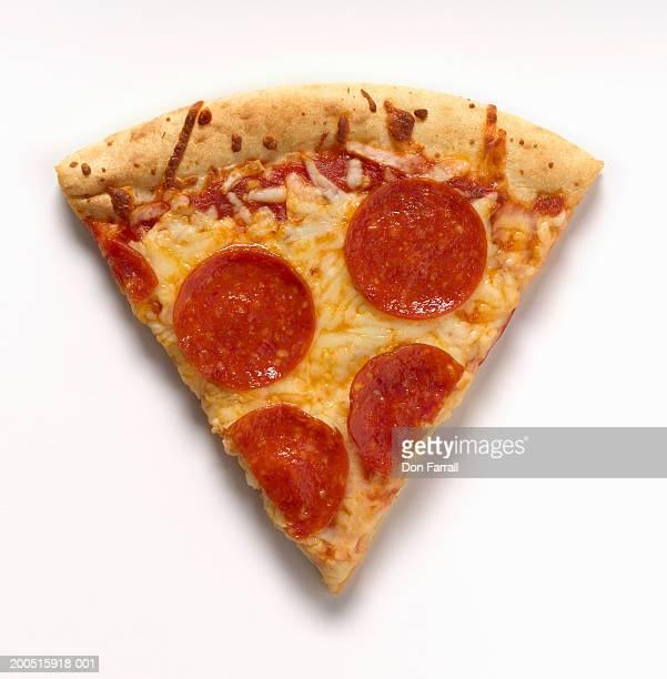 Slice of pepperoni pizza