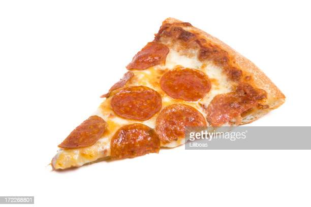 slice of pizza - pepperoni pizza stock photos and pictures