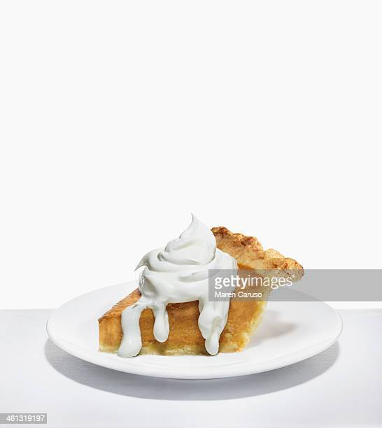Slice of Pumpkin Pie and Whipped Cream