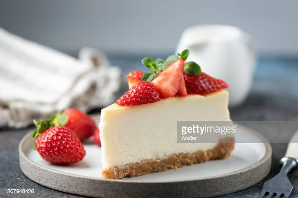 slice of strawberry cheesecake - ペストリー生地 ストックフォトと画像