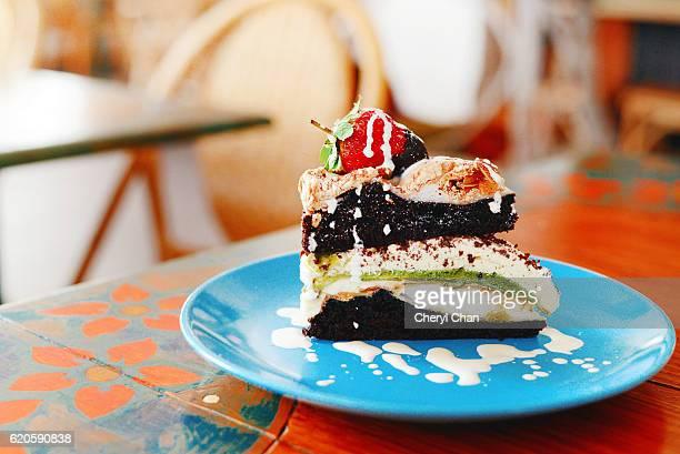 Slice of Strawberry Chocolate cake