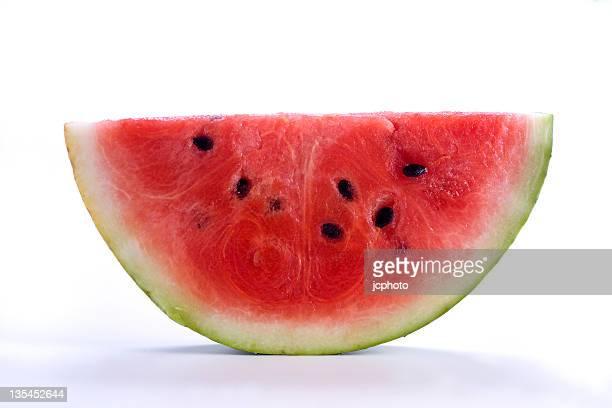 Stück Wassermelone auf Weiß