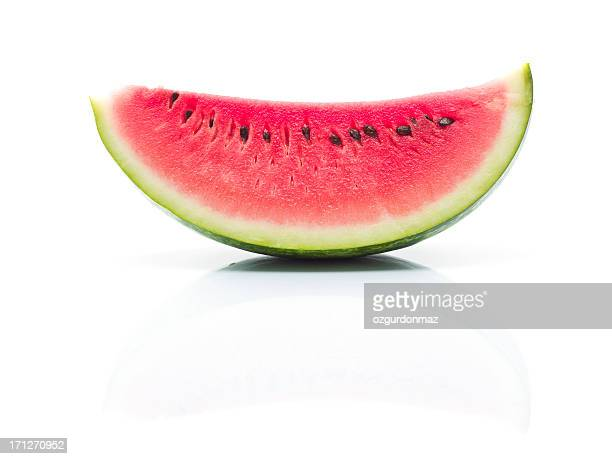 slice of watermelon - watermelon stock pictures, royalty-free photos & images