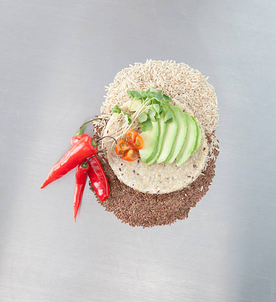 Sliced Avocado And Peppers With Grains Wall Art