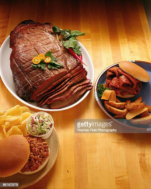 sliced beef and sandwiches -  firak stock pictures, royalty-free photos & images