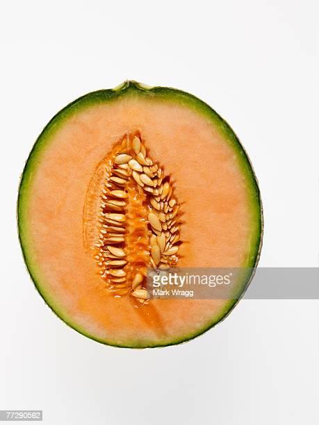 Sliced cantaloupe