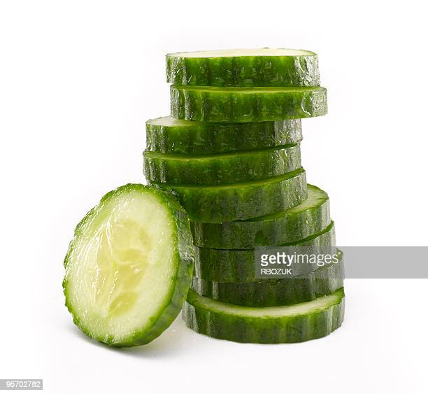 Sliced Cucumber in Stack