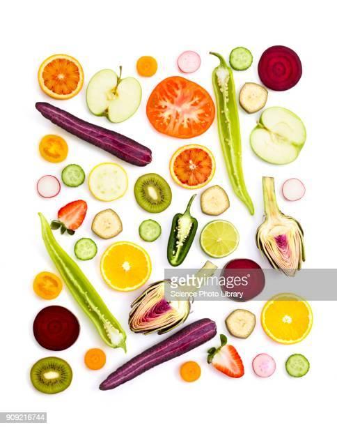 Sliced fresh produce