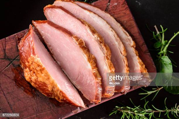 sliced ham - ham stock pictures, royalty-free photos & images