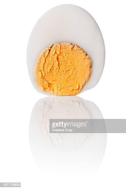 Sliced hard boiled chickens egg