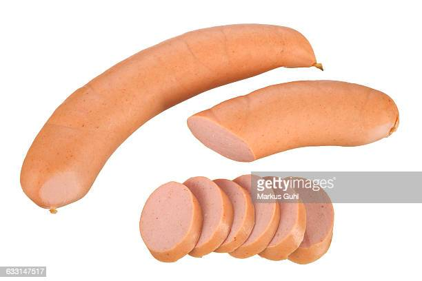 Sliced hot dogs sausages