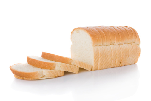 Sliced loaf of bread isolated on white 92206322