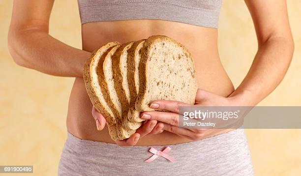 Sliced loaf of gluten free bread