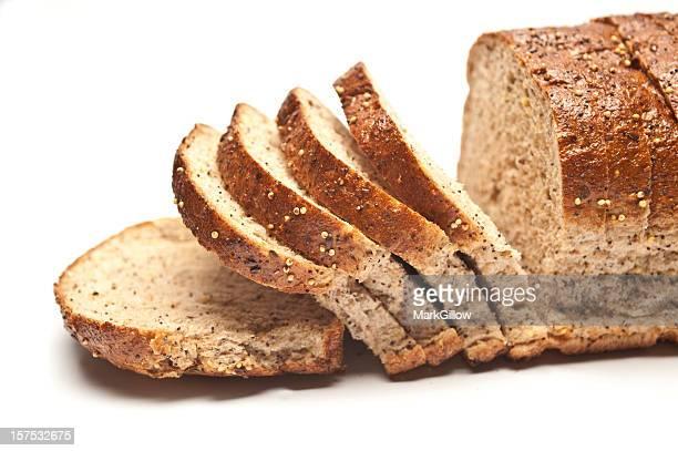 Sliced Loaf of Seeded Brown Bread