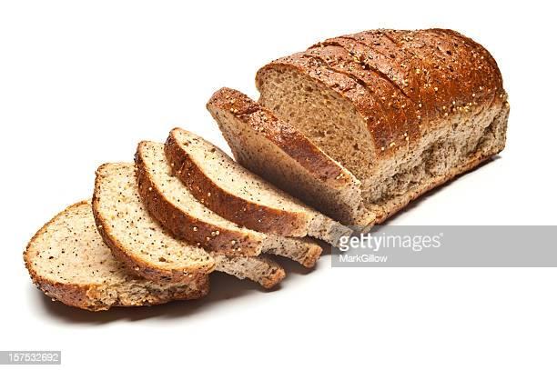 Scheiben Laib platzierte Brown Bread