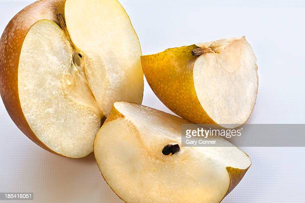 Sliced Nashi Asian pear