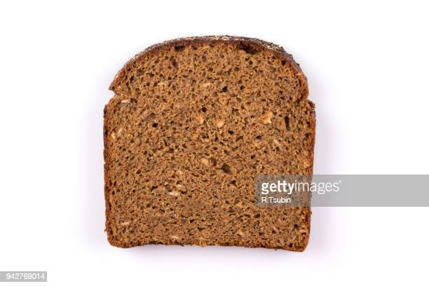 sliced of black bread - wholegrain stock pictures, royalty-free photos & images