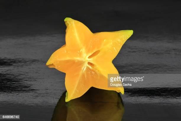 Sliced piece of a Star Fruit (averrhoa carambola)