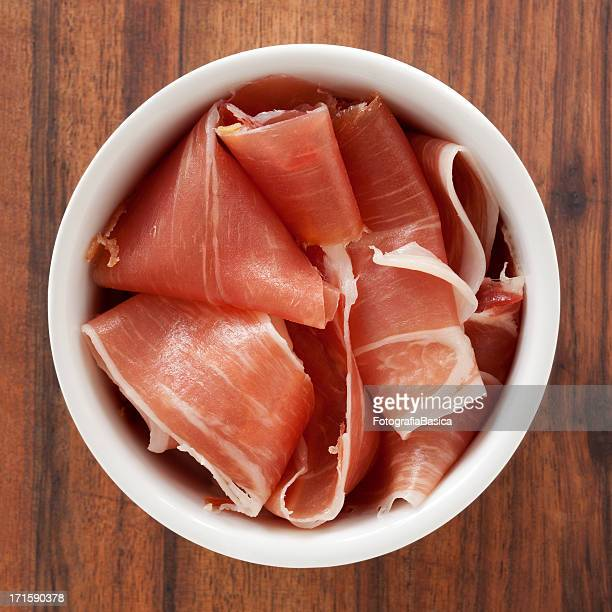 sliced prosciutto - prosciutto stock photos and pictures