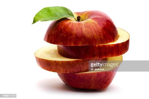 Geschnittene roten Apfel