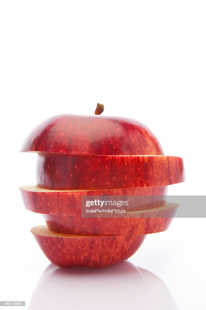 Sliced red apple : Stock Photo