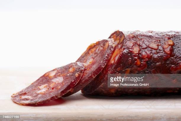 A sliced salami