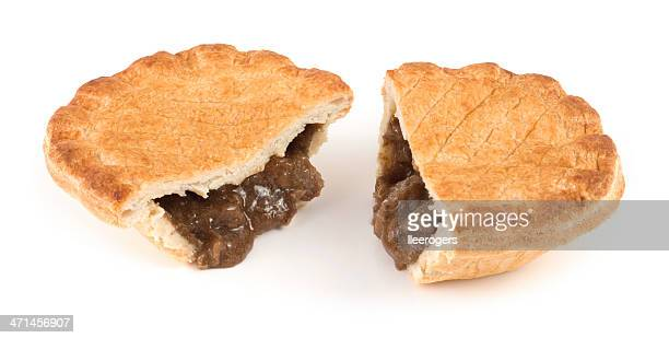 sliced steak pie - gravy stock photos and pictures