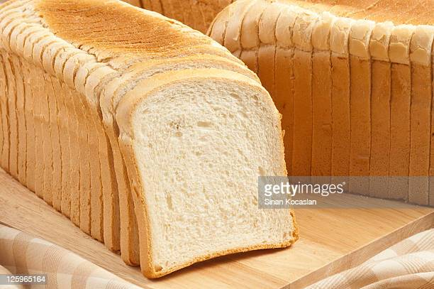 sliced toast bread - loaf of bread stock pictures, royalty-free photos & images