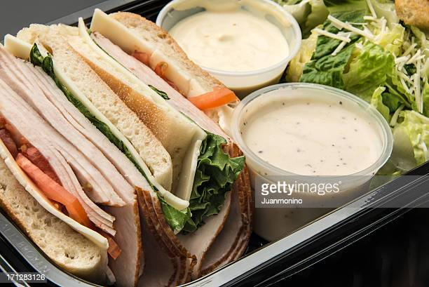 Sliced Turkey Breast and Cheese Sandwich