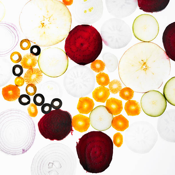 Sliced Vegetables On Counter Wall Art