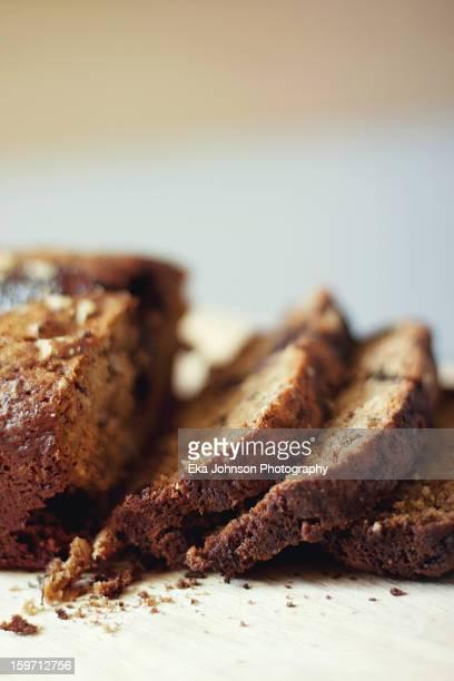 Slices of banana bread