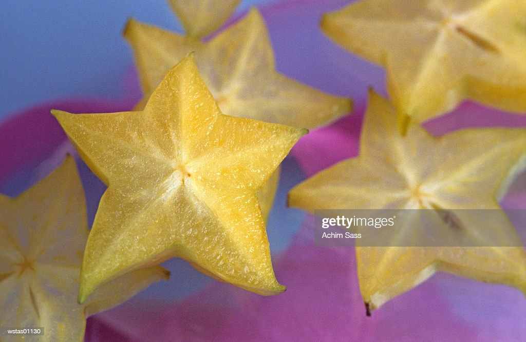 Slices of carambola : Stock Photo