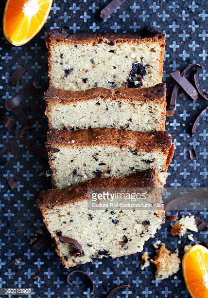 slices of fruit cake on board - klein stock pictures, royalty-free photos & images