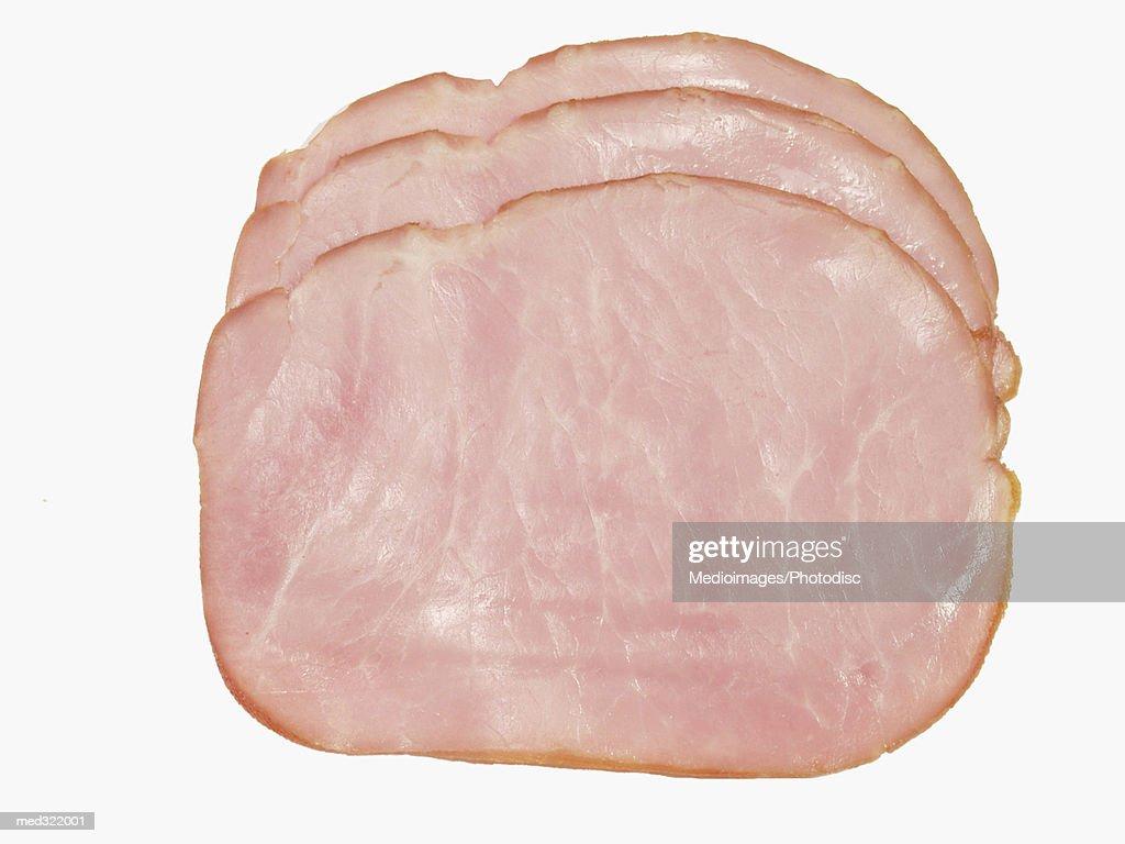 Slices of ham : Stock Photo