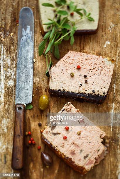 slices of pate - pate stock photos and pictures