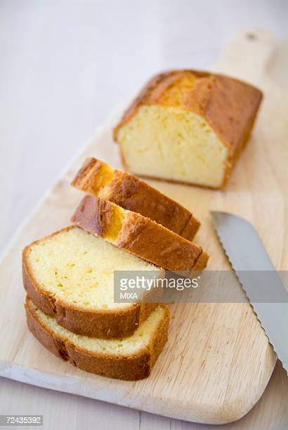 Slices of pound cake
