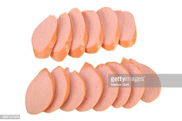 Slices of sausage