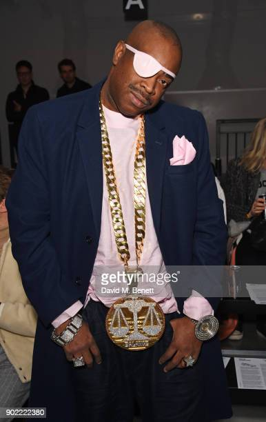 Slick Rick attends the Christopher Raeburn show during London Fashion Week Men's January 2018 at BFC Show Space on January 7 2018 in London England