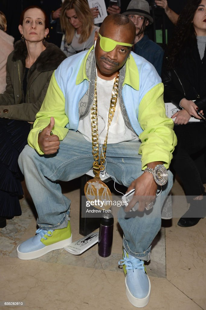 Slick Rick attends the Front Row for the Philipp Plein Fall/Winter 2017/2018 Women's And Men's Fashion Show at The New York Public Library on February 13, 2017 in New York City.