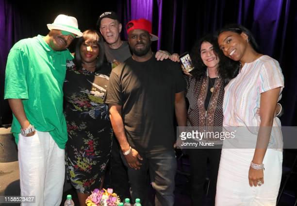 Slick Rick, Bevy Smith, Bill Adler, DJ Funkmaster Flex, Janette Beckman and Mandy Aragones attend YouTube x Slick Rick Is Art Presents Can't Dance &...